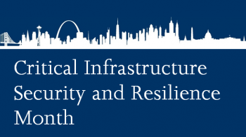 Graphic logo of DHS CISR Month