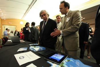 "Secretary Moniz with Second Place ""Apps for Energy"" Winner"