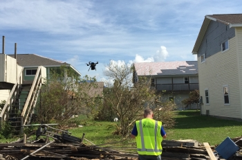 Using ARPA-E's methane-seeking drone technology to hunt for natural gas leaks after Hurricane Harvey.
