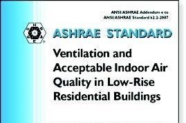 "Image of the cover of the report, ""Ventilation and Acceptable Indoor Air Quality in Low-Rise Residential Buildings."""