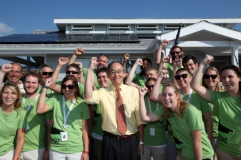 Energy Secretary Chu Visits Purdue's Solar Decathlon House