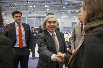 Secretary Moniz at the 2014 Washington Auto Show