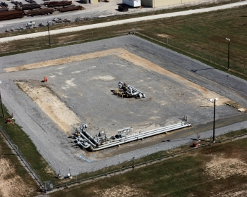 Aerial of well pad at West Hackberry.