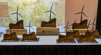 Collegiate Wind Competition 2016 Trophies.