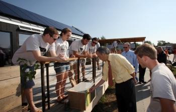 Energy Secretary Chu Visits Middlebury College's Solar Decathlon House