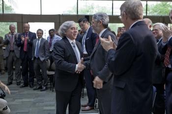 Secretary Moniz Meets DOE Employees & Guests