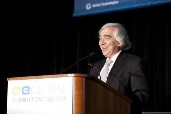 Secretary Moniz at the 2013 Energy Efficiency Global Forum
