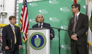 Energy Secretary Moniz at the Spallation Neutron Source