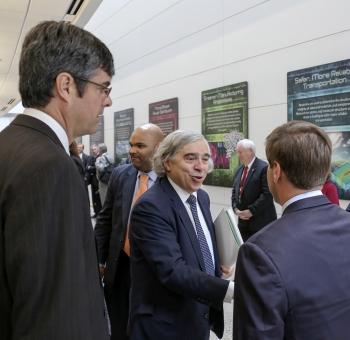 Energy Secretary Moniz at the Spallation Neutron Source
