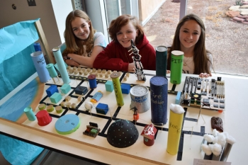 Students at the NM Future City competition.