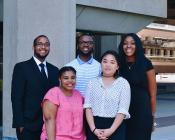 Portrait of the Office of Economic Impact and Diversity's MEISSP Interns, Summer 2018