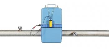 An OLEM collection node calculates the enrichment of the UF6 gas flowing through a gas centrifuge enrichment plant's unit header