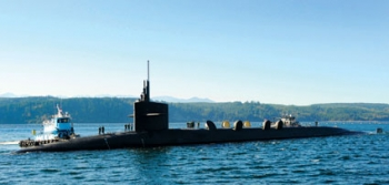 The Ohio-class ballistic submarine USS Alabama returns to Naval Base Kitsap from a deterrent patrol. The USS Alabama is one of 1