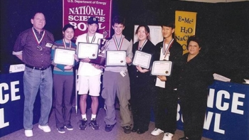 Jeff Zira (third from left) and teammates pose after winning their regional competition in 2001.