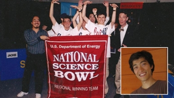 Jeff Zira and his teammates celebrate winning the regional competition his junior year at North Hollywood High School.