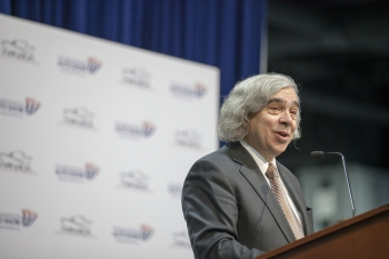 Secretary Moniz at the Washington Auto Show