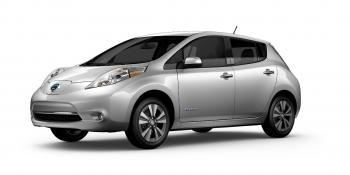 Manufacturer photo of a Nissan Leaf