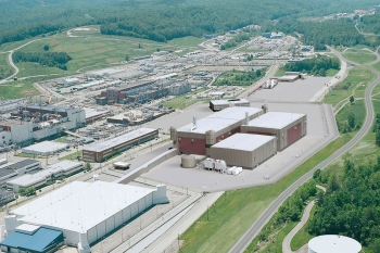An artist's rendering of what the Uranium Processing Facility (UPF) will look like when complete.