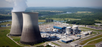 Aerial view of the TVA Watts Bar Nuclear Power Plant.