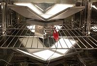 Photo of OLED luminaires.