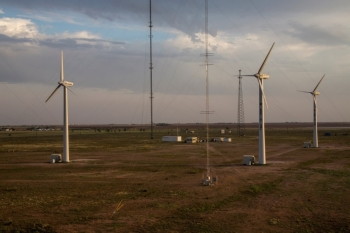 The Scaled Wind Farm Technology facility at Sandia National Labs.