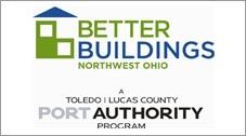 Logo for Better Buildings Northwest Ohio, Toleco Lucas County Port Authority Program.
