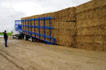 Kelderman self-loading trailer, open sides