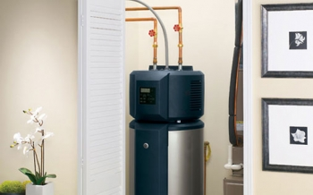 Photo of a hot water heater.