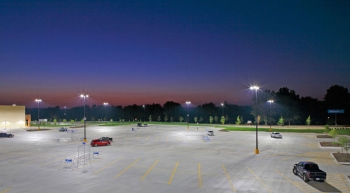 """The LED Site Lighting Specification keeps the parking area well lit while limiting """"light trespass"""" on the surrounding neighborhood."""