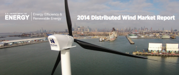 Cover of 2014 Distributed Wind Factsheet