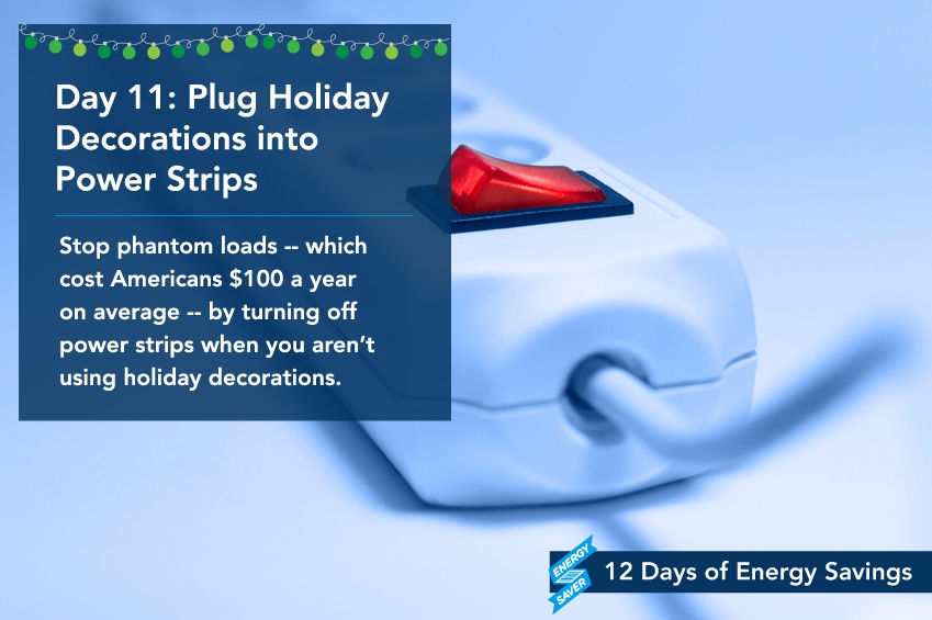 Day 11: Plug Holiday Decorations into Power Strips