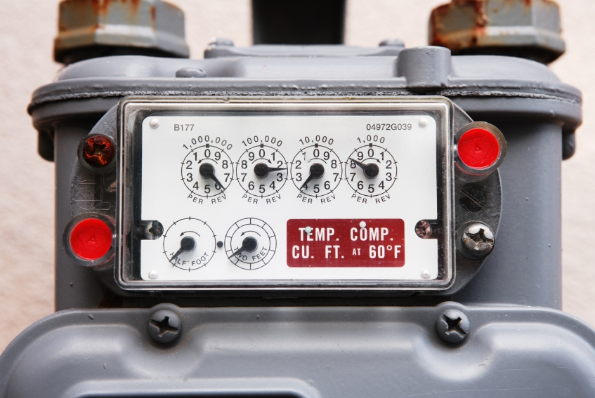 What is the Badge Capacity of a Gas Meter, and Why Does it Say /REV