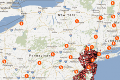 Google Crisis Map for Hurricane Sandy