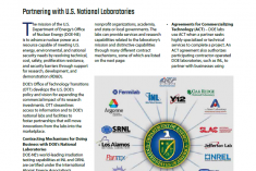 Partnering with U.S. National Laboratories Fact Sheet Cover