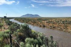 The Big Lost River flows during the ICP CAB's archaeological tour, June 2017