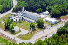 A view of the Molten Salt Reactor Experiment at the Oak Ridge National Laboratory.