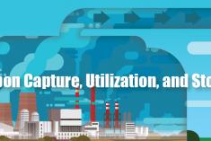 Carbon capture, utilization, and storage infographic
