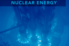 Reactor photo with text that reads ultimate fast facts guide to nuclear energy.