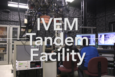 Blurred background with text IVEM Tandem Facility