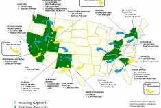 Map of EM Sites with waste transport