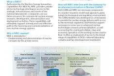 National Reactor Innovation Center Fact Sheet