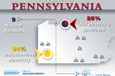 Statistics for nuclear production in Pennsylvania.