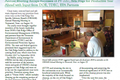 Front page of the October 2017 Advocate quarterly newsletter by the Oak Ridge Site Specific Advisory Board