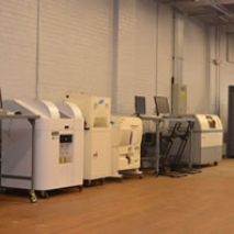 A view of additive manufacturing machines at the NAMII facility in Youngstown, Ohio. Photo credit: National Additive Manufacturing Institute.