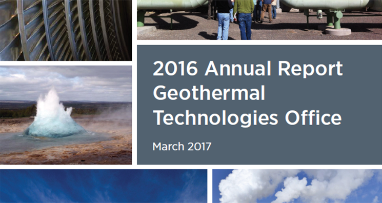 2016 Annual Report, Geothermal Technologies Office