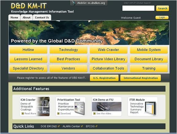 Deactivation & Decommissioning Knowledge Management Information Tool (D&D KM-IT)
