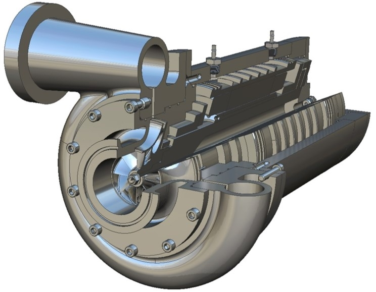 Mechanical Solutions, Inc.'s ultra-small centrifugal compressor concept will facilitate low-GWP refrigerant adoption.<br />Photo Credit: Mechanical Solutions, Inc.
