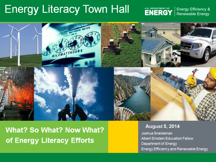 Webcast: National Energy Literacy Virtual Town Hall