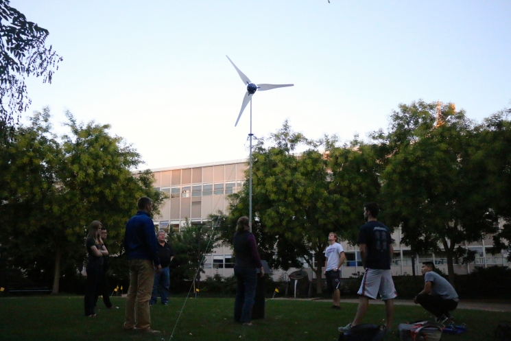 The deployment of the winning 2014 wind turbine.