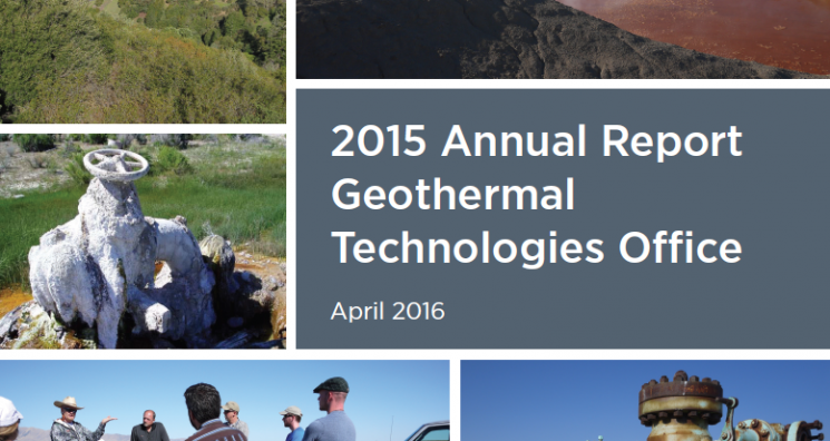 2015 Annual Report, Geothermal Technologies Office